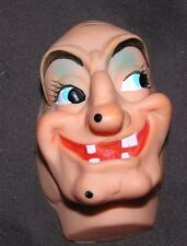"""VTG 1960'S JAPAN VINYL RUBBER DOLL MAKING SUPPLIES HALLOWEEN WITCH MASK FACE 4"""""""