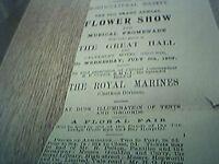 ephemera 1902 advert tunbridge wells horticultural society