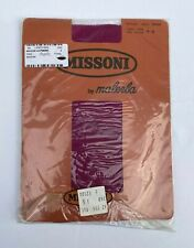 VINTAGE MISSONI BY MALERBA PURPLE CALZE TIGHTS PANTYHOSE NEW IN PACKAGING SIZE M