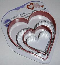 Wilton Valentines Day  4 Pc Cookie Cutters Set  HEARTS