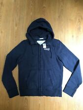NEW ABERCROMBIE&FITCH HEAVYWEIGHT HOODIE SIZE XL BUT FIT LIKE L,VINTAGEWASH,RARE