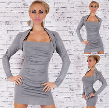 Stunning grey knitted dress with studded trim. Mini dress size 8/10 Womens