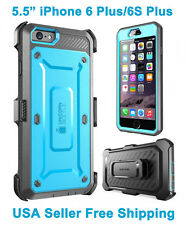 Genuine Supcase For iPhone 6 Plus/6S Plus Full Body Rugged Holster Case Blue