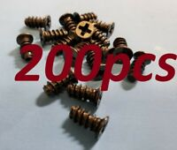200pcs BLACK PC computer Case Cooling Fan Grill Guard Mounting Screws