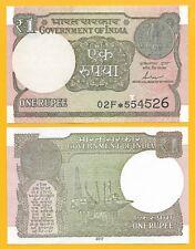 India 1 Rupee p-117c 2017 Letter L REPLACEMENT  UNC Banknote