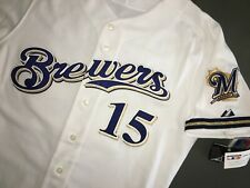 NWT Authentic On Field MILWAUKEE BREWERS #15 SHEETS Jersey 44 Majestic $250