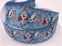 DIY 5 Yard 1'' Snow Po Printed Grosgrain Ribbon Hair Bow Sewing Crafts Ribbon