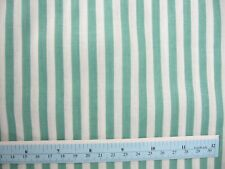 "Sage Green and White 1/4"" Stripe Cotton Fabric,  45"" BTY"