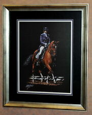 """""""Dressage"""" Horse Art by Wakefield in 23""""x27"""" Frame (MS146)"""