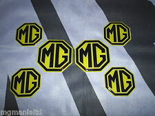 MGZR MG ZR  2x Front & Rear  4x Centre Caps Yellow Badge Inserts New