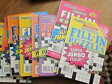 Penny's Famous Fill-In Puzzles Lot of 7