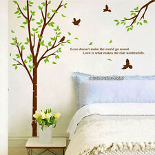 Huge Removable Green Tree&Birds Wall Stickers Home Decor Vinyl Art Decal Nursery