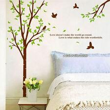 Enorme desmontable Green Tree & aves pegatinas de pared Decoración del Hogar Vinilo Arte calcomanía Vivero