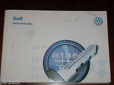 Betriebsanleitung / Handleiding / Instructieboekje VW Golf III / 3 ,Stand 1996