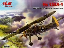 HENSCHEL Hs 126 A-1 (LUFTWAFFE POLISH AND GREEK CAMPAIGN MARKINGS)  1/48 ICM