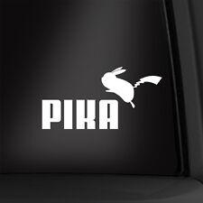 Pika Pokemon Puma Spoof 7 Inch Vinyl Decal Nintendo Multiple Colors Available!