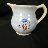 Hartstone Pitcher Snowpeople Crate & Barrel USA 32 oz Hot Chocolate Milk