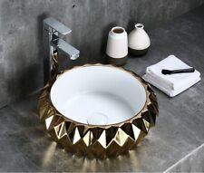 Modern Round Above Counter Porcelain Ceramic Bathroom Countertop Vessel Sink
