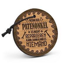 Patenonkel reparieren Schlüsselanhänger Holz Gravur Geschenk Paten Heimwerker