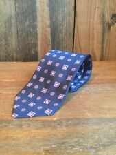 Brooks Brothers Blue Cros Logo Designer Silk Tie Navy EUC Paisley Business Work