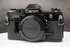 :Canon AE-1 35mm Film SLR Black Camera Body - Missing Battery Door