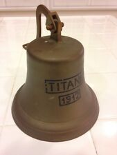 NAUTICAL DECORE SHIP BRASS BELL TITANIC 1912 REPLICA WALL MOUNT