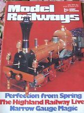 MODEL RAILWAYS MAGAZINE JUL 1979 PERFECTION SPRING HIGHLAND RAILWAY NARROW GAUGE