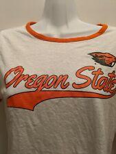 Oregon State Beavers Women's Small Ringer T Shirt NWT