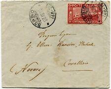 1926 San Francesco 60 cent. isolato su busta dest. Cavallirio Novara BOBBIO