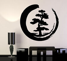 Vinyl Wall Decal Enso Tree Of Life Zen Circle Buddhism Yoga Stickers (1204ig)