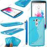 Housse Etui Coque Silicone Motif S-line Gel Souple Bleu LG G3 D855 + Stylet