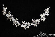 Bendable pearl and crystal bridal hair vine wedding hair accessories