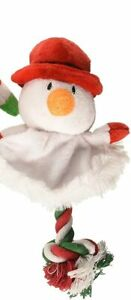 """SPOT ETHICAL CHRISTMAS HOLIDAY TREE SKIRT ROPE DOG 9"""" TOY SNOWMAN. USA"""