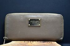 Michael Kors Womens Large Leather Continental Purse Wallet Brown - Authentic