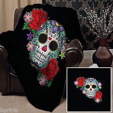 Candy Skull Green Design doux couverture polaire couverture jeter canapé lit couverture