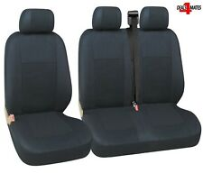 For Renault Master Trafic Seat Covers Black High Quality Fabric Single & Double