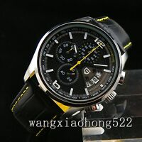 43mm pagani design chronograph black dial multifunction mens quartz watch N072