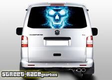 VW Volkswagen Transporter T5 Portón Trasero Wrap 303 Vinilo de gráficos Cráneo Impreso
