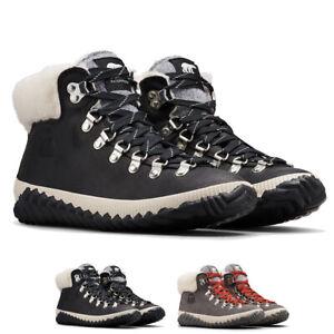 Ladies Sorel Out N About Plus Conquest Nubuck Faux Fur Warm Winter Ankle Boot