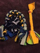 Dog Fleece Braided Tug & Chew Toy & Ball Set ~ 4 Homemade Toys 0124K