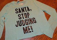 XXL NWT Aeropostale (Tokyo Darling) Santa, Stop Judging Me! Crop Top (Christmas)