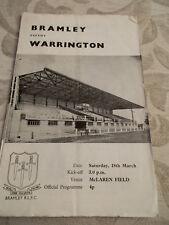 18.3.72 Bramley v Warrington programme
