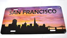 USA Auto Nummernschild License Plate Deko Blechschild San Francisco Skyline