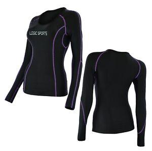Logic Womens Base Layer Compression Running Sports Full Sleeve + Yoga/Gym Top