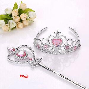 2 Piece/Set Princess Tiara Accessories Children Jewelry Crowns + Magic Wands