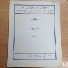 partition méthode Rondo en ré majeur Mozart Les Classique de la Flûtes