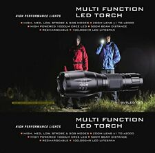 Aluminium rechargeable LED torch light flashlight CREE XM-L T6 18650 warm white
