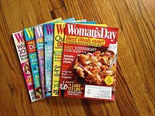 LOT of 6 Woman's Day Magazines January - June 2014