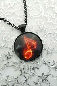 FLAMING NOTE NECKLACE LIGHT REFLECT EFFECT GIFT BOXED 18 20 22 ,24  INCH  CHAIN