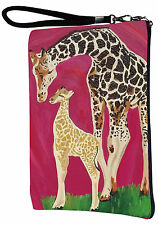 Giraffe Pouch Wristlet with detachable strap - From my orginal Painting